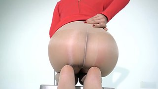 Uncensored asian pantyhose model