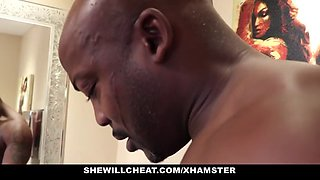 Shewillcheat wife fucks bbc in bathroom