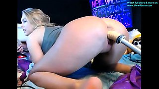 Mature teen plays with her sex machine anal HOT VIDEO