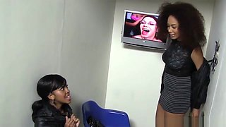 Serena Ali And Amber Steel Visit Gloryhole