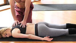 Fitness Rooms Dirty yoga teacher on gorgeous fitness model