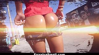 ExxxtraSmall- Hot Ebony Step-Sister Fucked