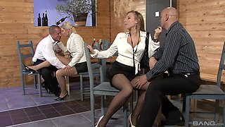 Morgan wet shaved pussy logged hardcore in group porn