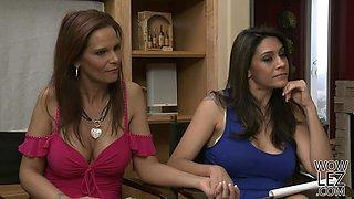Raylene and Aryana Augustine licking warm pussies