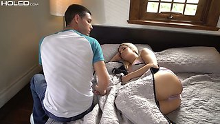 Alluring blondie Mila Marx gets her tight anus stretched and gaped