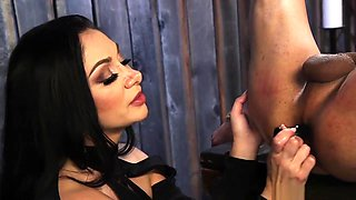 Busty Milf Mistress Anal Fucks Male
