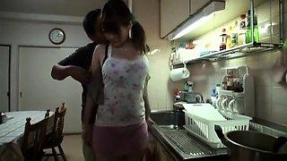 Bodacious Oriental wife enjoys a wild fucking in the kitchen
