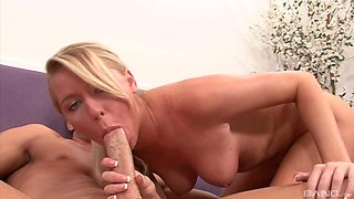 Blonde Brynn Tyler knows exactly how to use a monster cock