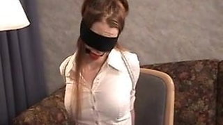 Girls In Office Clothes, High Heels And Pantyhose Bondage