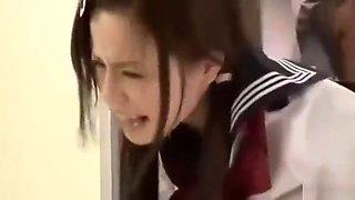 Schoolgirl forced fucked in elevator