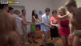 Naked Russian babes and rapacious dudes flirt before fucking hard