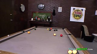 Midget turned on while playing pool
