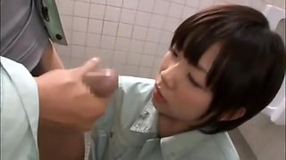 Female student at an industrial high school blowjob
