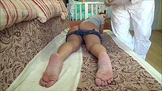 Cutting toenails + 6 suppositories
