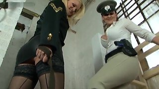 Sadista and Sexy Boot Mistress Amberleight humiliating slave