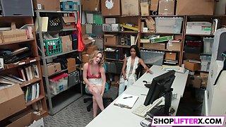 lp officer cornering teen shoplifter