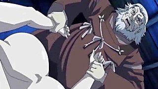 Hentai babe sucking massive dong