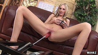 Aimee Addison Gets Pussy Pummeled by Machine