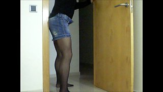 Judith: Crossdresser dancing and play alone