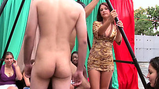 Cfnm scene with female sucks dick of gorgeous boy