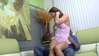 Beautiful stepdaughter Aurora Snow gets her pussy creampied by horny stepdaddy