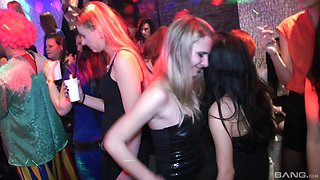 Pretty babes like to bang at the party more than anything