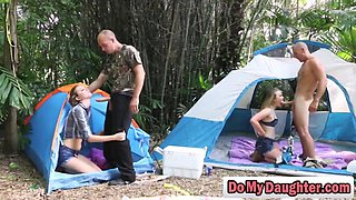 Camping trip turns into daughter swap