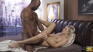 BLACK4K. Big black cock of new virgin friend makes Ria Sunn