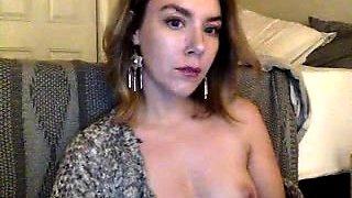 Prettiest 19yo Teen with Pierced Nipples on Webcam