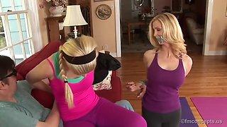 yoga foot worship
