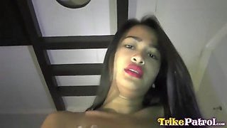 trike patrol - slim filipina milf gets used by white guy
