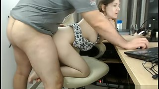 Romanian girl fuck with boss on office