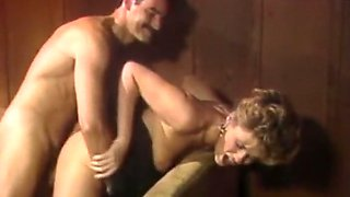 Lascivious and majestic white milf on the couch boned hard
