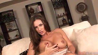 Cum On The Big Tits Of A Hot Milf.