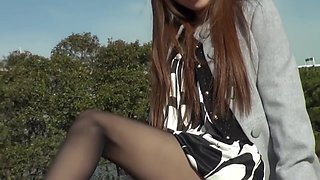 japanese pornstar pantyhose footjob and sex 3