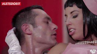 LETSDOEIT Sexy Couple Has Vintage Fantasy Sex Session