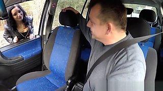 Hot prostitute banged in car