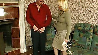 Horny Russian Aunt and her guy