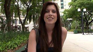 Pov college teen blows in public toilet