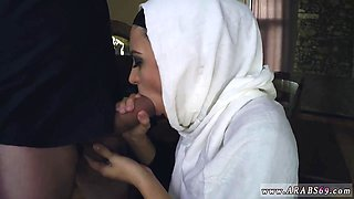 Arab kissing Hungry Woman Gets Food and Fuck
