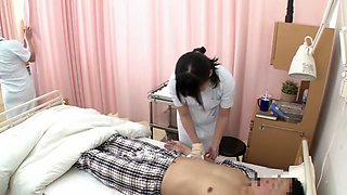 Horny Japanese slut in Exotic Nurse, HD JAV scene