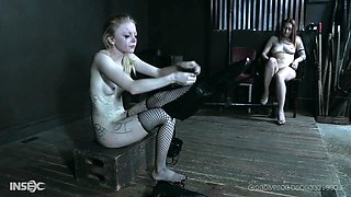 Submissive blonde slut Alice spanked and abused in hardcore bondage
