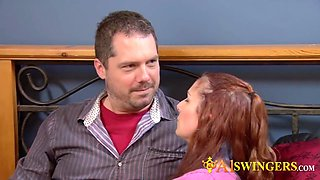 Swinger husband eating fresh pussy like a boss