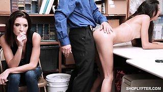 Horny brunette love some white cock inside her