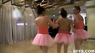 three angry ballerinas force nina north eat their pussies
