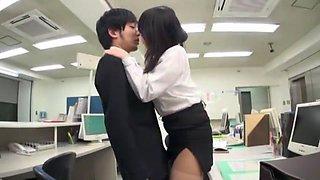 Crazy Japanese girl Aiko Hirose, Kotone Amamiya in Incredible Handjobs, Secretary JAV video