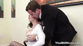busty milf boss fucking with assistant
