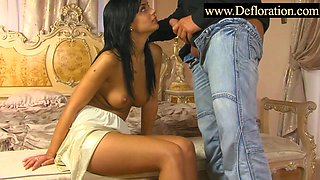 Defloration of a blackhaired teen