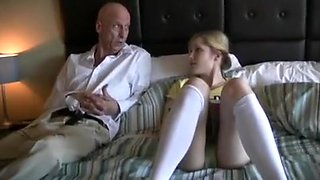 Old Dad fucks step daughter Skyla