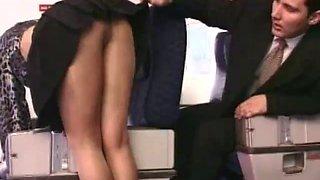 Airline foot fetish